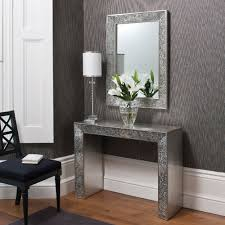 home decor with mirrors table exciting foyer decor with entryway console table and large