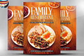 thanksgiving restaurant template flyer templates creative market