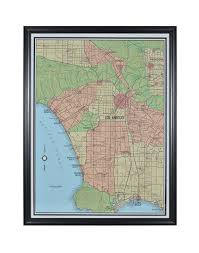 Los Angeles Map Poster by Timothy Oulton Big Los Angeles Map Timothy Oulton