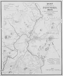 Map Massachusetts Towns by The First Published Map Of Concord Mass Rare U0026 Antique Maps