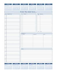 daily project organizer templates free daily planner for 2010