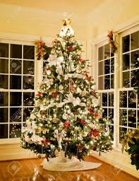 baby nursery charming christmas tree decorations white ribbons