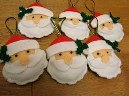 felt christmas tree decorations maybe little boots helmets axes