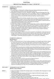 marketing associate resume samples velvet jobs