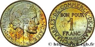 chambre de commerce 93 essai de 1 franc hybride morlon chambres de commerce en bronze