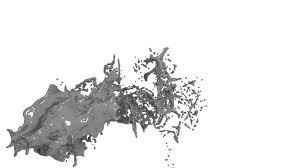 blue paint splashing in extreme slow motion alpha channel