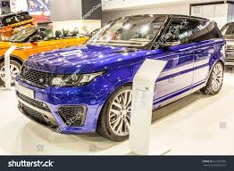 land rover purple poznan poland april 0609 2017 motor stock photo 621055586