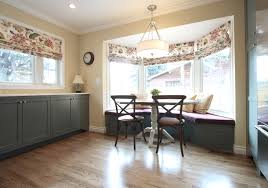 amazing kitchen bay window treatments 16937