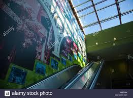chicago illinois mural on wall escalator in pipers alley shopping chicago illinois mural on wall escalator in pipers alley shopping mall old town neighborhood