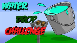 Challenge Water Drop Reto Water Drop Challenge En Minecraft