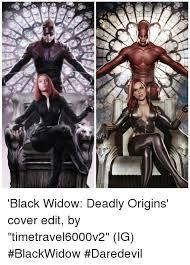 Black Widow Meme - sv black widow deadly origins cover edit by timetravel6000v2 ig