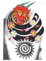 oni demon design tattoo