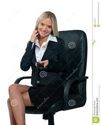 business woman sitting in office chair stock image image 21660751