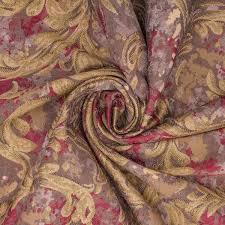 Roman Upholstery Red U0026 Blue Roman Shade Bright Golden Paisley Pattern Curtain