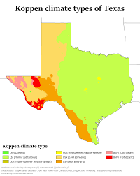 Map Of The State Of Texas Climate Of Texas Wikipedia
