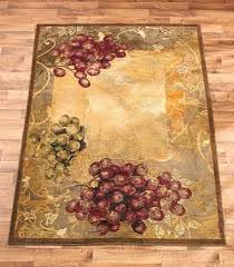 Tuscan Style Rugs Area Rug Grapes Grapevine Rustic Tuscan Country Vineyard Home