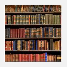 Coaster Bookshelf Backgrounds Dust Bookshelf Literature Antique Pap Coasters Cork