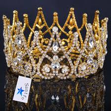 amazon com sant fe royal gold plated crown tiaras queen princess