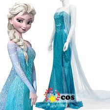 Anna Elsa Halloween Costumes Aliexpress Buy 2017 Princess Anna Elsa Princess Dress