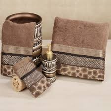 Animal Print Bathroom Ideas Safari Stripes Towel Set Chocolate Bath Wash Bathroom Ideas