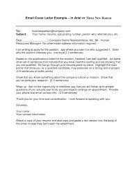 cover letter email sample cover letter basic sample email cover
