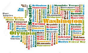 Maps Of Washington State by Word Cloud Map Of Washington State Royalty Free Cliparts Vectors