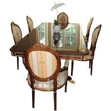 Mahogany Dining Room Set 17k Large French Louis Xvi Style Mahogany Dining Room Table W