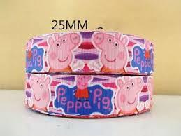 peppa pig ribbon 1 metre new peppa pig ribbon size 1 inch bows headbands