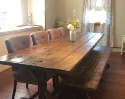 Farmhouse Table Etsy - Dining room farm tables