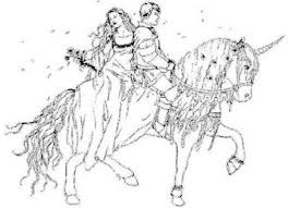 princess riding horse coloring animal coloring pages