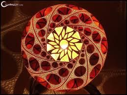 gourd lamps by przemek krawczyński feather of me