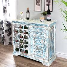 Distressed Wood Bar Cabinet Covington Distressed White Mango Wood Brass Inlay Wine Bar Cabinet