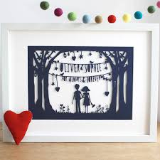 paper anniversary ideas anniversary print or papercut in mount by mimi mae