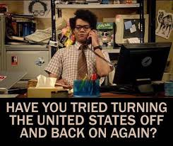 have you tired turning the united states off and back on again