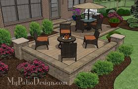Patio Designs Medium Two Square Patio Tinkerturf