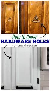 kitchen cabinet door hinge covers how to cover hardware holes