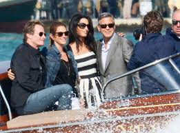 george clooney wedding emily blunt krasinski and matt damon from george clooney s