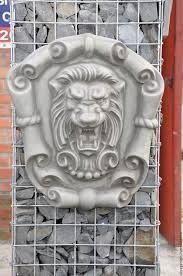 Home Interior Lion Picture Buy Lion Concrete Bas Relief No 2 On The Cartouche Grinning Grey