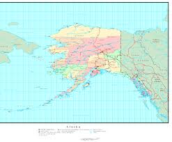 Alaska Rivers Map by Alaska Political Map