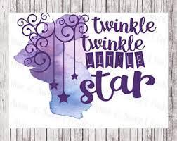 Twinkle Little Star Nursery Decor Nursery Rhyme Decor Etsy