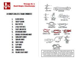 Challenge Knot Announcements Boy Scout Troop 811 Ca Where High