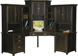 mission style corner desk large corner computer center desk hutch home office wood furniture black mission mission style corner desk