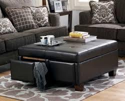 Black Leather Storage Ottoman Black Leather Storage Ottoman Canada Home Design Ideas