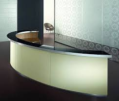 Acrylic Reception Desk C Shape Acrylic Marble Receiption Counter Half Round Acrylic