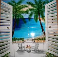 tile murals kitchen backsplash tile mural with ocean view patio