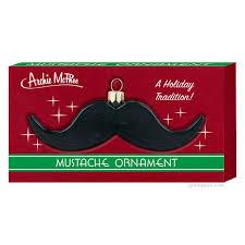 mustache ornament archie mcphee co