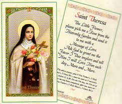 prayer cards theresa laminated prayer card