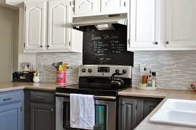 2 Tone Kitchen Cabinets by Remodelaholic Grey And White Kitchen Makeover