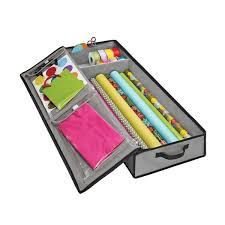 container store christmas wrapping paper grey wrap tote organizer the container store