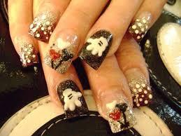 day 188 mickey and minnie nail art nails magazine